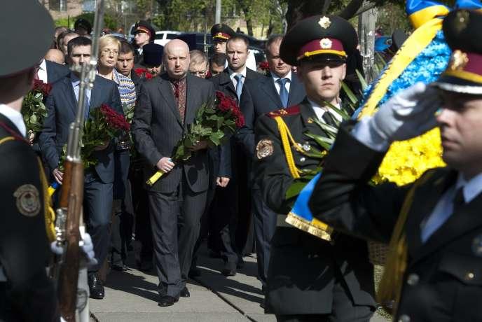 Olexandre Tourtchinov, le 26 avril à Kiev.