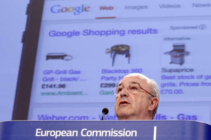 Le commissaire européen à la concurrence, Joaquin Almunia, le 5 février, à Bruxelles.