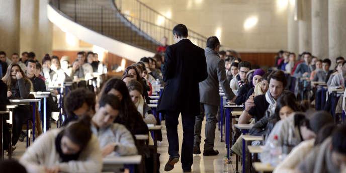 Le concours d'entrée à la deuxième année d'études de santé, à Marseille-La Timone, en 2012.