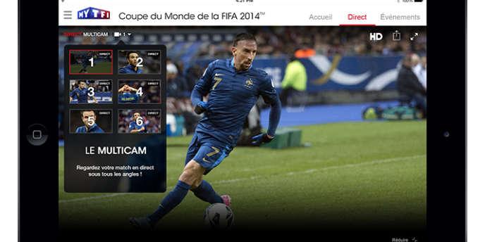 Le dispositif numérique de TF1 pour la Coupe du monde au Brésil.