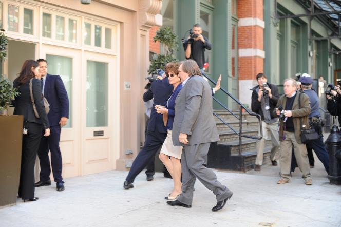 Gérard Depardieu et Jacqueline Bisset dans le film américain d'Abel Ferrara,