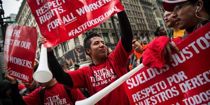 Des manifestants à New York, ce jeudi 15 mai.