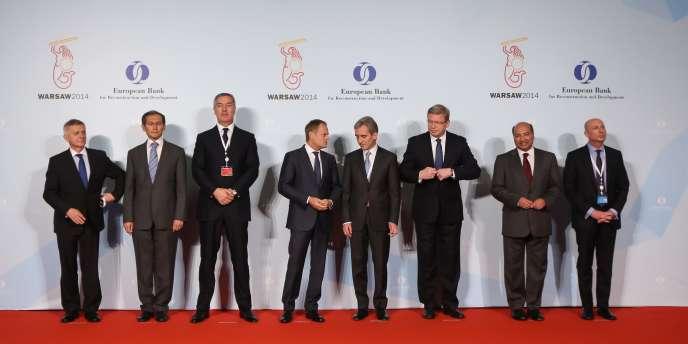 Lors de la réunion annuelle des directeurs de la BERD, mercredi 14 mai à Varsovie.