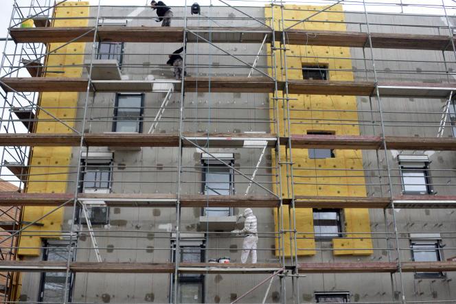 Construction de logements à Rennes.