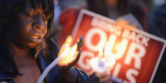 Manifestation à Los Angeles, le 11 mai 32014, pour la libération des jeunes filles kidnappées par la secte islamiste Boko Haram.