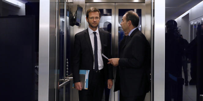 Jérôme Lavrilleux et Jean-Francois Copé, au siège parisien de l'UMP, en novembre 2012.