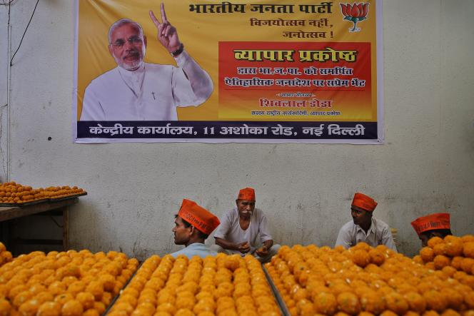 Campagne de Narendra Modi à New Delhi le 15 mai.