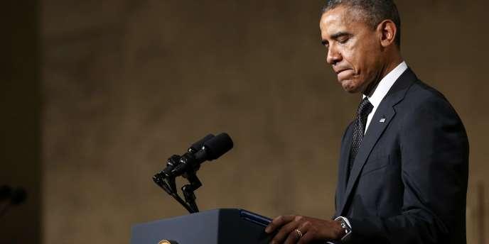 Barack Obama, lors de l'inauguration du musée du 11-Septembre, le 15 mai à New York.