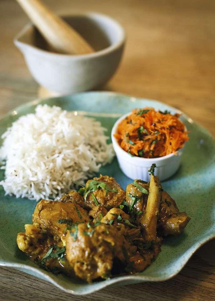Poulet au curry: la recette simple de Xavier Denamur