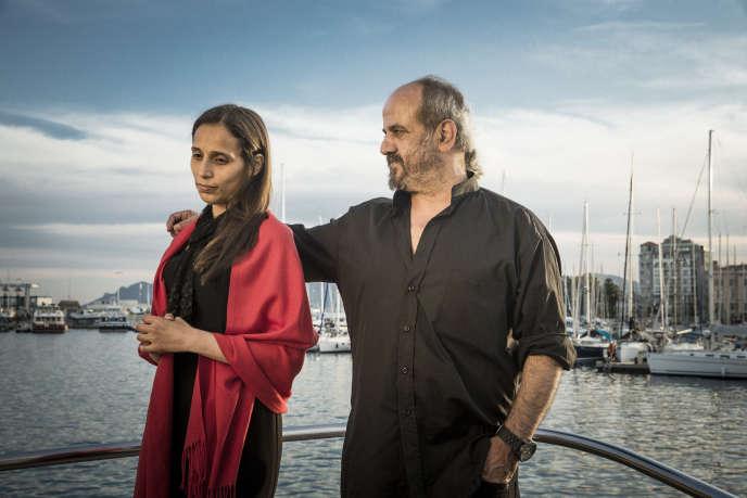 Wiam Simav Bedirxan et Ossama Mohammed lors de leur première rencontre à Cannes, le 16 mai 2014.