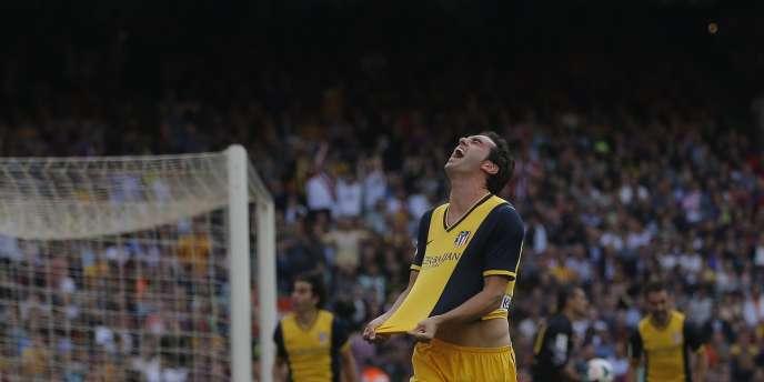 Diego Godin a offert le titre de champion d'Espagne à l'Atlético Madrid sur la pelouse du Barça, le 17 mai.