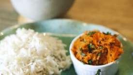 Le curry de poulet de Xavier Denamur.