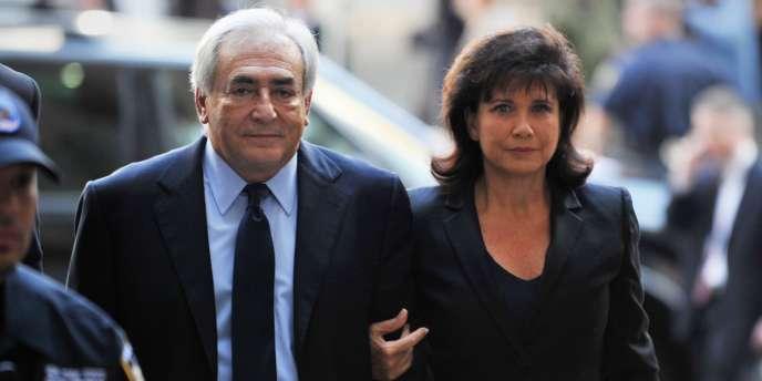 Dominique Strauss-Kahn et Anne Sinclair à New York en juin 2011.