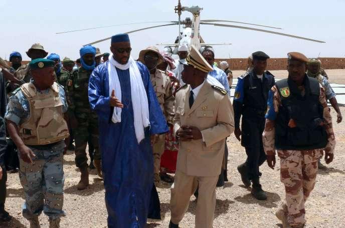 Le premier ministre malien Moussa Mara, le 17 mai à Kidal.