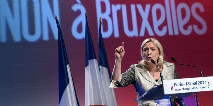 Discours de Marine Le Pen, le 18 mai 2014 à Paris, pour la campagne des élections européennes du 25 mai.