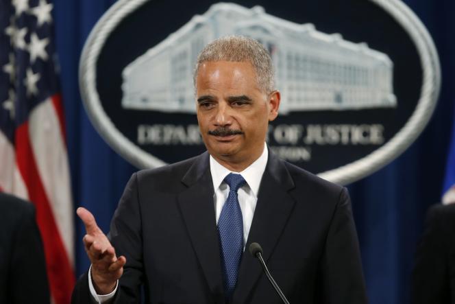 Eric Holder, procureur général des Etats-Unis, lors de l'annonce de l'inculpation des cinq hackers chinois, lundi 19 mai.