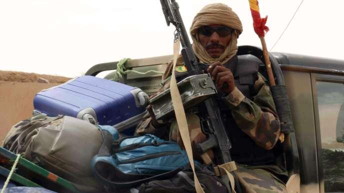 Un soldat malien, le 17 mai à Kidal.