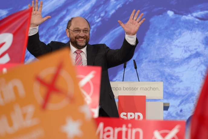 Martin Schulz lors d'un meeting à Berlin, le 19 mai.