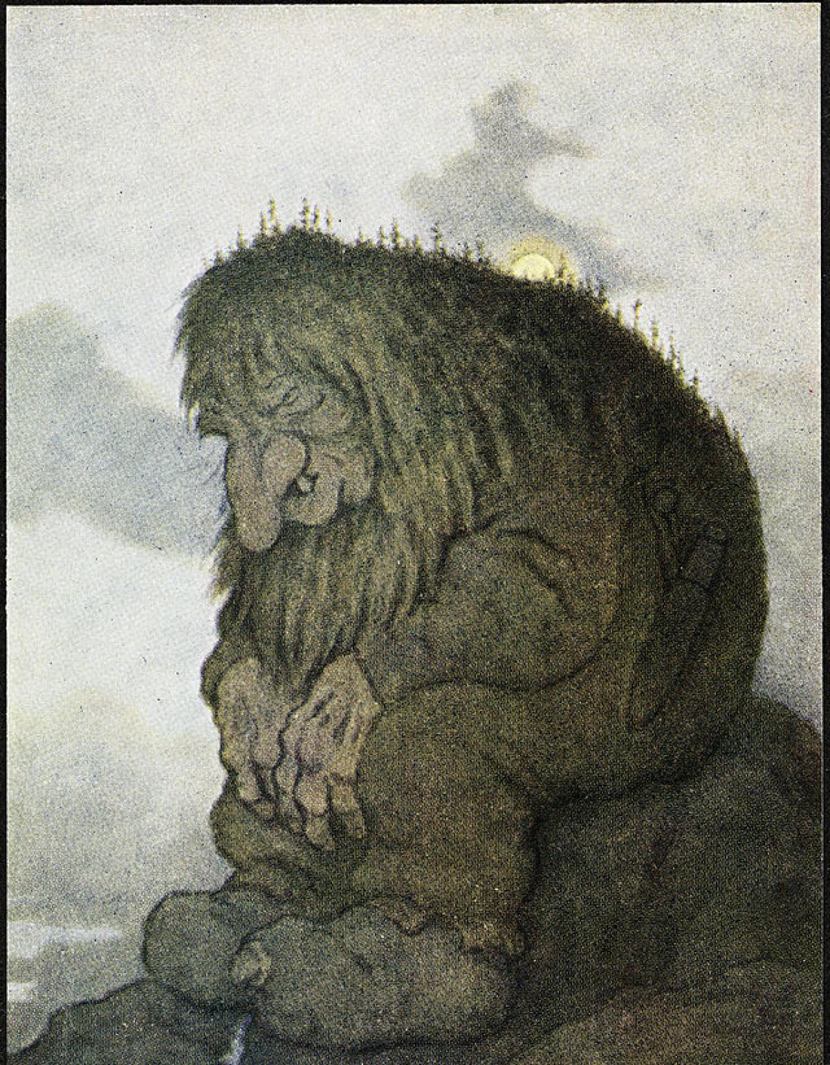 Le troll, également en partie humain.