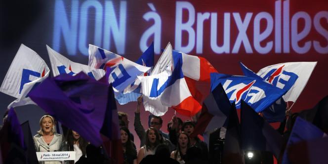 Lors d'un meeting du front National à Paris, le 18 mai.