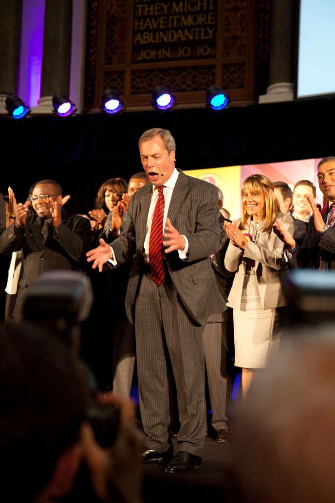 « Nous ne sommes  pas un parti raciste ! », scandait Nigel Farage  à son meeting  de Londres,  mercredi 7 mai.
