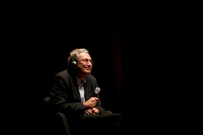 Orhan Pamuk, aux Assises du roman, à Lyon, en 2014.