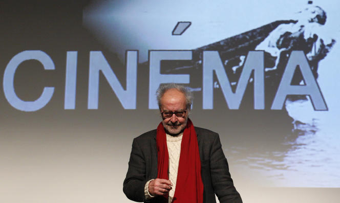 Le cinéaste Jean-Luc Godard lors d'une cérémonie à Zurich (Suisse), le 30 novembre 2010.