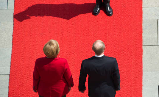 Angela Merkel et Vladimir Poutine à Berlin, en juin 2012.