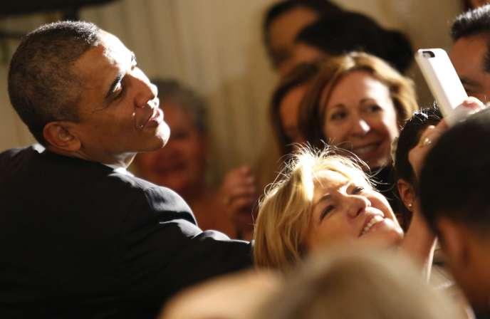 Un selfie avec Barack Obama, à la Maison Blanche, le 5 mai 2014.