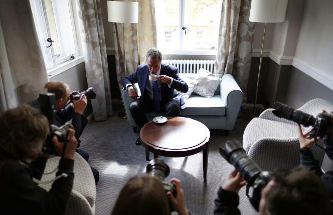 Nigel Farage, le 28 avril à Portsmouth.