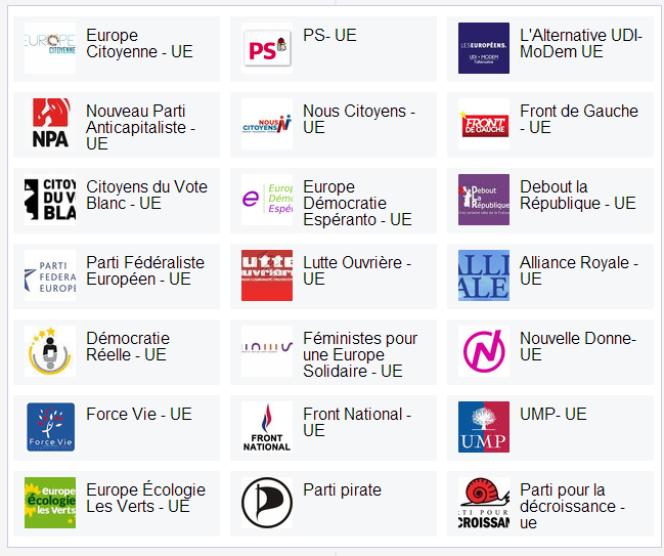 Le comparateur des programmes pour les européennes de Voxe.org.