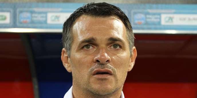 Willy Sagnol, ici le 5 septembre 2013, alors sélectionneur de l'équipe de France des moins de 21 ans.