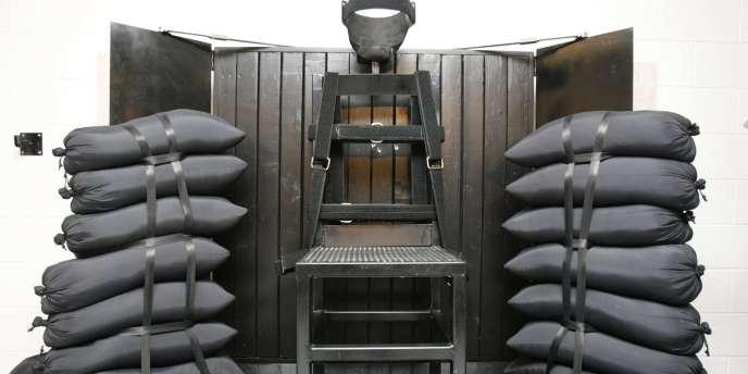 La salle utilisée par le peloton d'exécution à la prison d'Etat de Draper, dans l'Utah.