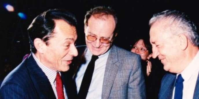 Jean-Paul Jacquier (au centre) en 1988 avec Michel Rocard et Edmond Maire
