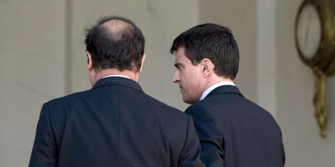Le couple exécutif, François Hollande et Manuel Valls, à l'Elysée, le 14 mai.