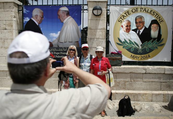 Le souverain pontife entame un voyage de trois jours en Jordanie, Israël et Palestine (ici à Bethléem)