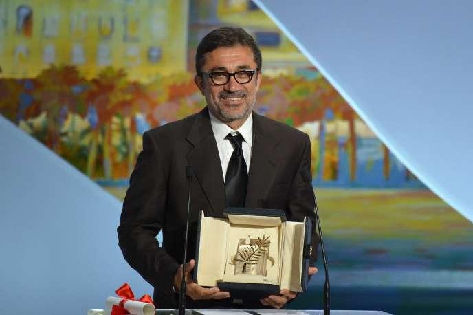 Le réalisateur turc Nuri Bilge Ceylan avec sa Palme d'or pour
