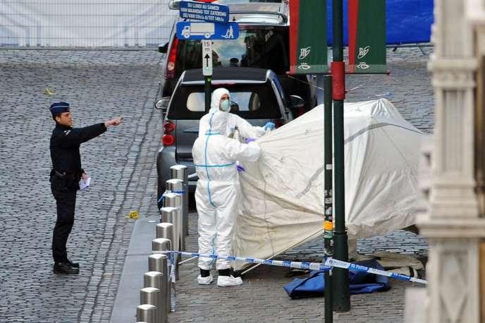 Quelques heures après la tuerie au Musée juif de Bruxelles, qui a fait quatre morts le24mai.