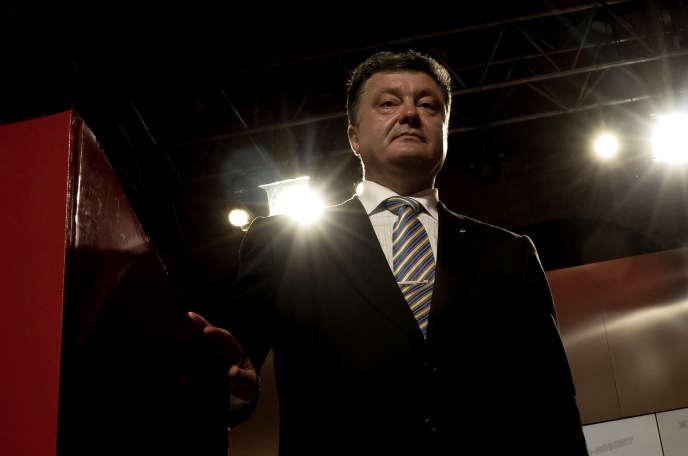 Petro Porochenko dans son quartier général à Kiev, le 25 mai, au soir de sa victoire à la l'élection présidentielle.