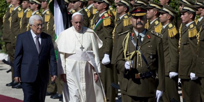 Mahmoud Abbas et le pape François à Bethléem, le 25 mai 2014.