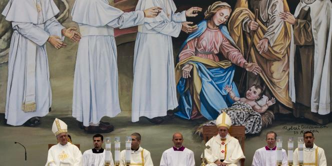 Le pape François a célébré dimanche 25 mai la messe sur la place de la Mangeoire, à Bethléem, dans les Territoires palestiniens.