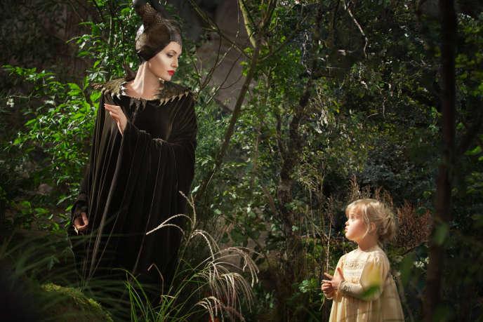 Angelina Jolie et Vivienne Jolie-Pitt dans le film américain de Robert Stromberg,