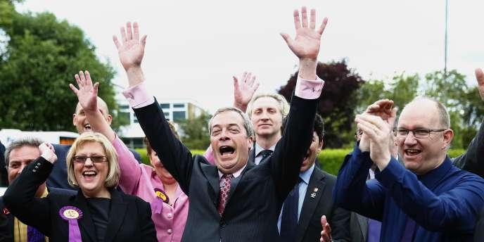 Nigel Farage, leader de l'UKIP, le 23 mai.