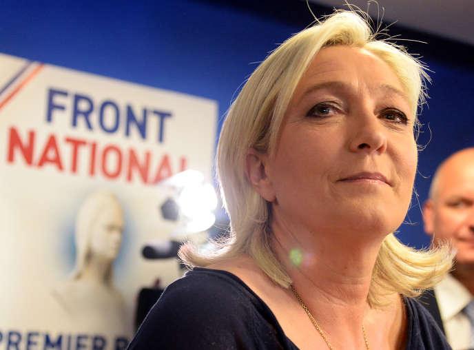 Marine Le Pen au siège du Front national, le 25 mai à Nanterre.
