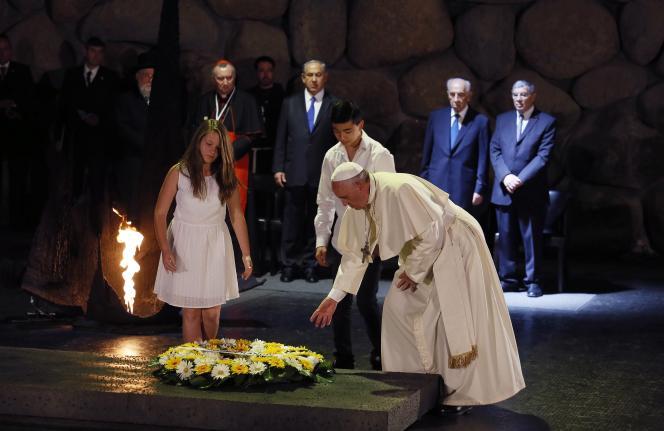 Le pape François à Yad Vashem, le 26 mai.
