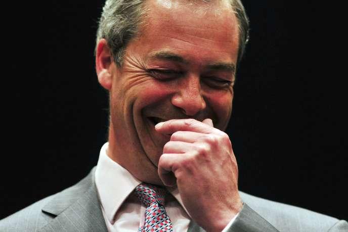 Nigel Farage, chef du parti UKIP, à l'annonce des résultats des élections européennes du 25 mai 2014.