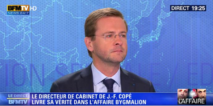 L'ex-trésorier de la campagne présidentielle de 2012 de Nicolas Sarkozy, Jérôme Lavrilleux, avait les larmes aux yeux sur le plateau de BFM-TV, lundi 26 mai.