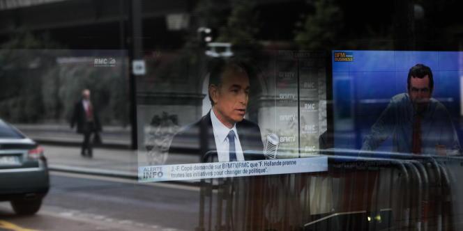 Jean-François Copé pendant son interview sur BFMTV, le 26 mai 2014.