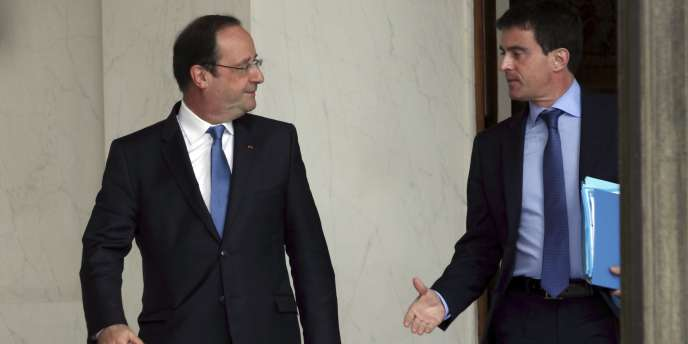 Hollande et Valls, lundi 26 mai.