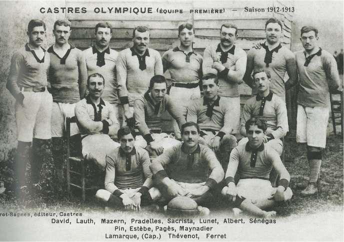 L'équipe première du Castres Olympique en 1912-1913.